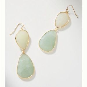 NWT Anthropologie Luna Double Drop Earrings